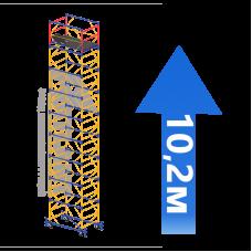 Вышка-тура (8 + 1) 1,2 х 2,0 м (Н=10,2 М)