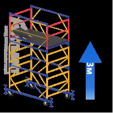 Вышка-тура (2 + 1) 1,2 х 2,0 м (Н=3,0 М)
