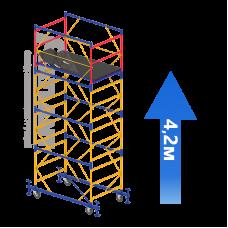 Вышка-тура (3 + 1) 1,2 х 2,0 м (Н=4,2 М)