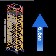 Вышка-тура (5 + 1) 1,2 х 2,0 м (Н=6,6 М)